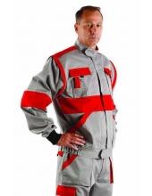 Kabát  /Mellény 260g/m2-Szürke/Piros-MAX 44-62