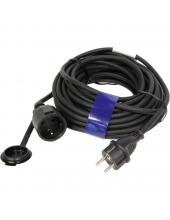 Hosszabbító 15m 250V/16A max.3600W 3x1,5mm2  IP44-Gumikábel